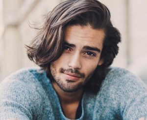Way to style medium length hair for men2